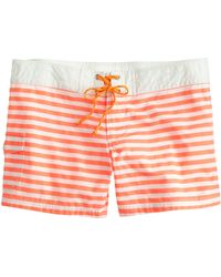 J.Crew Striped Board Short orange - Lyst