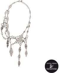 Delphine Charlotte Parmentier - Exclusive Collection 26 Necklace With Swarovski Crystals - Lyst