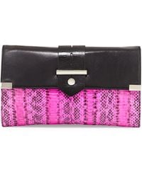 Milly Makenna Watersnake Clutch Bag - Lyst