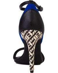 Chelsea Crew - Janine Teal Blue Woven Heel Sandals - Lyst