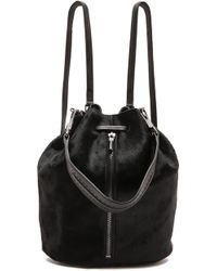 Elizabeth And James Cynnie Haircalf Sling Bag  Black - Lyst