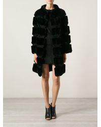 Diane Von Furstenberg Rabbit Fur Coat - Lyst