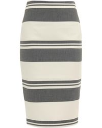 Elizabeth And James Aisling Striped Pencil Skirt - Lyst