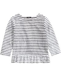 H&M Frilled Top - Lyst