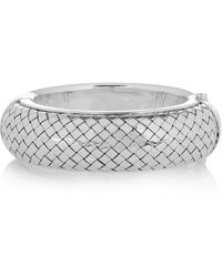Bottega Veneta Intrecciato Silver Bracelet - Lyst