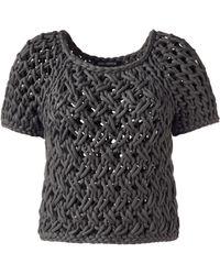 Iris Von Arnim Short Sweater Chloe gray - Lyst