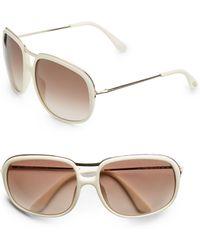 Tom Ford Cori Metal & Acetate Aviator Sunglasses - Lyst