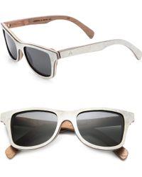 Shwood Canby White Slate & Wood Sunglasses - Lyst