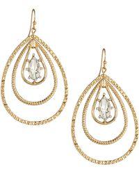 Fragments Crystal Ellipse Triple-drop Earrings - Lyst