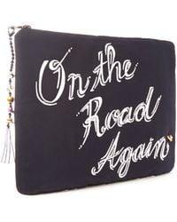 Venessa Arizaga - Black On The Road Again Silk Faille Clutch Bag - Lyst