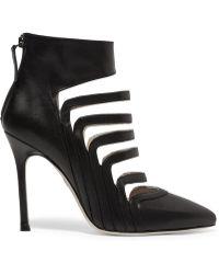 Chelsea Paris - Adile Cutout Leather Ankle Boots - Lyst