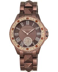 Vince Camuto Swarovski Crystal-accented Stainless Steel Watch - Brown