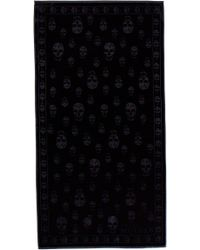Alexander McQueen - Tonal Skull Towel - Lyst