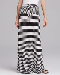 Two By Vince Camuto - Parallel Lines Drawstring Maxi Skirt - Lyst