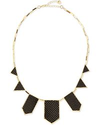 House of Harlow 1960 - Perforated Fivestation Necklace Black - Lyst