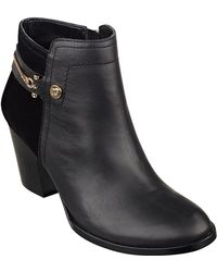 Ivanka Trump Tifton Leather And Suede Booties - Lyst