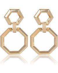 River Island Gold Tone Oversized Dangle Earrings gold - Lyst