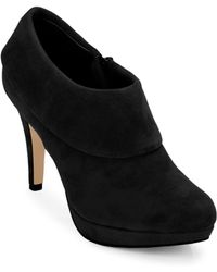 Adrienne Vittadini Polenta Suede Cuffed Ankle Boots - Lyst