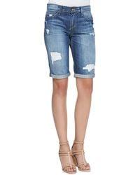 Joe's Jeans Easy Samara Denim Bermuda Shorts - Lyst