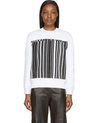 Alexander Wang White Barcode Logo Sweatshirt - Lyst