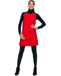 C. Wonder Faux Leather Trimmed Aline Dress - Lyst