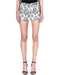 Diane Von Furstenberg Naples Floral Shorts Black - Lyst