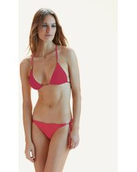 ViX | Solid Raspberry Lucy Triangle Top | Lyst