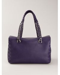Roberto Cavalli Braided Handle Tote - Lyst