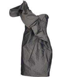 Robert Rodriguez Gray Short Dress - Lyst