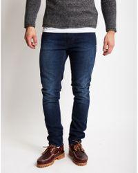 Nudie Jeans | Lean Dean Deep Colbalt Jeans | Lyst