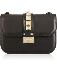 Valentino Glam Lock Small Leather Shoulder Bag - Lyst