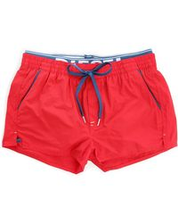 Diesel Red Barrely Waistband Swim Shorts red - Lyst