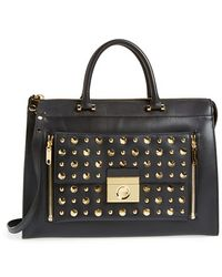 Milly Women'S ' Sienna - Studs' Two-In-One Tote - Black - Lyst