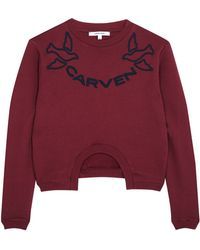Carven Bicolour Embroidered Logo Sweater - Lyst