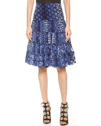 Jean Paul Gaultier Pleated Skirt Blue - Lyst
