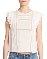 Twelfth Street Cynthia Vincent | Sheer Inset Blouse | Lyst