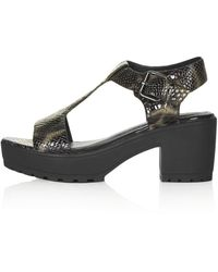 Topshop Womens National Sandals Brown - Lyst