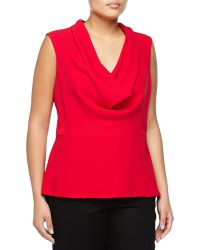 Carolina Herrera Sleeveless Silk Top - Lyst