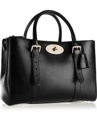 Mulberry The Bayswater Double Zip Textured-leather Tote - Lyst