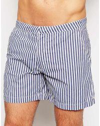 Selected Frank Stripe Swim Shorts - Lyst