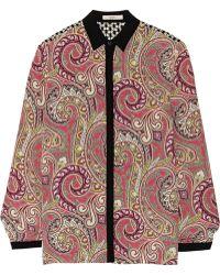 Etro Printed Silk Shirt - Lyst