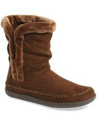 Tempur-Pedic Braylynn Slipper Boots - Brown