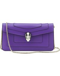 BVLGARI Serpenti Forever Calf-Leather Clutch Bag - For Women - Lyst
