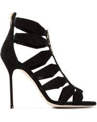 Sergio Rossi Embellished High Heel Sandals - Lyst