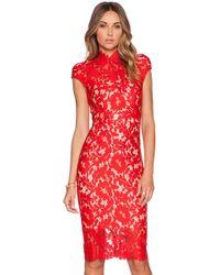 Lover Warrior Lace Midi Dress - Lyst
