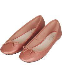 Topshop Womens Vibrant Ballet Pumps  Rose - Lyst
