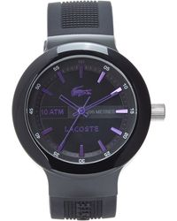 Lacoste Black  Purple Watch - Lyst