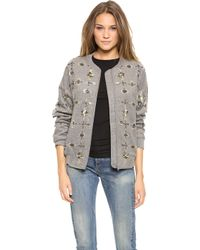 By Malene Birger Prospera Embellished Jacket - Medium Grey Melange - Lyst