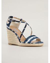 Tabitha Simmons 'Liu' Wedge Sandals - Lyst