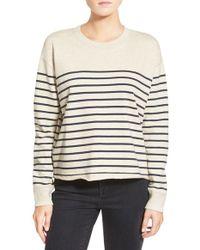 Madewell | Stripe Cutoff Sweatshirt | Lyst